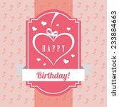 birthday design   vector... | Shutterstock .eps vector #233884663