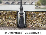 Love Padlocks On Pont Des Arts...