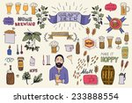 the set of hand drawn beer info ... | Shutterstock .eps vector #233888554