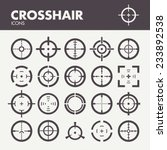 crosshair. icons set in vector | Shutterstock .eps vector #233892538