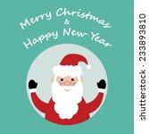 santa claus in the frame... | Shutterstock .eps vector #233893810