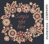 cute retro flowers arranged in... | Shutterstock .eps vector #233894494