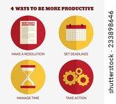 flat style infographics. 4 ways ...