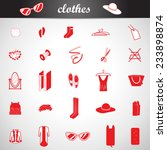 clothes icons set   isolated on ... | Shutterstock .eps vector #233898874
