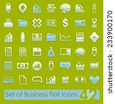 set of business flat icons | Shutterstock .eps vector #233900170