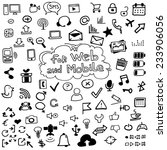 icons for web and mobile. hand... | Shutterstock .eps vector #233906056