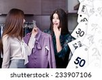 friends wonder at special... | Shutterstock . vector #233907106