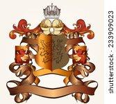 heraldic shield in vintage...   Shutterstock .eps vector #233909023