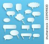 illustration of paper chat... | Shutterstock .eps vector #233909830