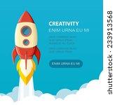space rocket launch. start up...   Shutterstock .eps vector #233913568