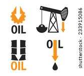 fall in oil prices set vector...
