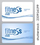 fitness club membership card... | Shutterstock .eps vector #233916199