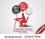 business man infographic option ... | Shutterstock .eps vector #233917594