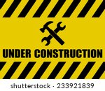 under construction background | Shutterstock .eps vector #233921839