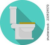 flat vector icon for toilet.... | Shutterstock .eps vector #233929570