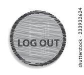 logout icon. internet button | Shutterstock .eps vector #233932624
