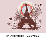 illustration of the eiffel tower | Shutterstock .eps vector #2339511