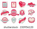 label set love and happy... | Shutterstock .eps vector #233956120