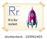 A Letter R For Rocket On A...