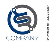 rs company linked letter logo  | Shutterstock .eps vector #233965384