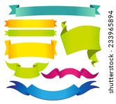 set of multicolored ribbons and ... | Shutterstock .eps vector #233965894