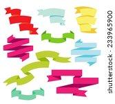 set of multicolored flat... | Shutterstock .eps vector #233965900