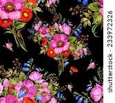 seamless pattern watercolor... | Shutterstock . vector #233972326