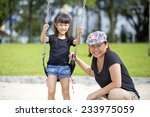 young asian mother and daughter ... | Shutterstock . vector #233975059