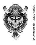 skull of the sun. | Shutterstock .eps vector #233978503