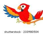 happy macaw bird cartoon  | Shutterstock .eps vector #233980504