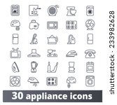 appliances icons  vector set of ...
