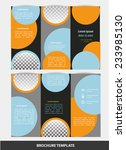 vector  business brochure or... | Shutterstock .eps vector #233985130