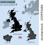 united kingdom countries  uk... | Shutterstock .eps vector #233992684