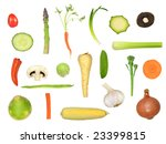 vegetable selection in abstract ... | Shutterstock . vector #23399815