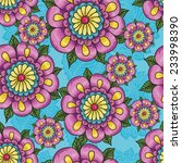 indian pattern with flowers on... | Shutterstock .eps vector #233998390
