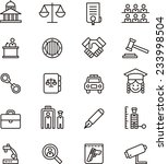 law   justice icon set