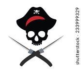 pirate skull  pirate hat ...   Shutterstock .eps vector #233999329