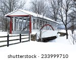 Snowy Covered Bridge Bedford...