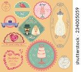 set of vintage wedding and... | Shutterstock .eps vector #234005059