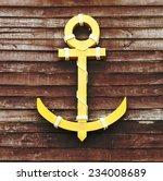 wooden anchor on wood grunge... | Shutterstock . vector #234008689