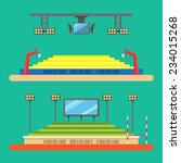 flat design of sport stadium... | Shutterstock .eps vector #234015268