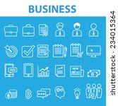 blue business icons all in one... | Shutterstock .eps vector #234015364