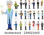 cartoon vector characters of... | Shutterstock .eps vector #234021643