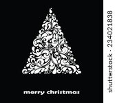 christmas greeting card. vector ... | Shutterstock .eps vector #234021838
