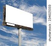blank billboard with blue sky...   Shutterstock . vector #234025333