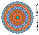 round ornament  vector pattern | Shutterstock .eps vector #234026254