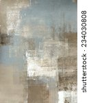 Grey And Beige Abstract Art...