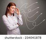 attractive young teenager... | Shutterstock . vector #234041878