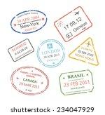 international business travel... | Shutterstock . vector #234047929