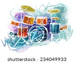 colorful drums | Shutterstock .eps vector #234049933